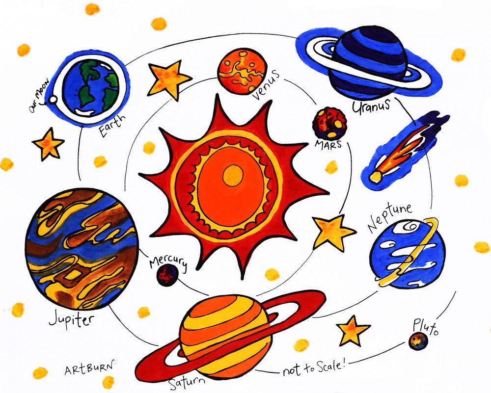 Pillow Case Painting Kits for Kids - Our Solar System
