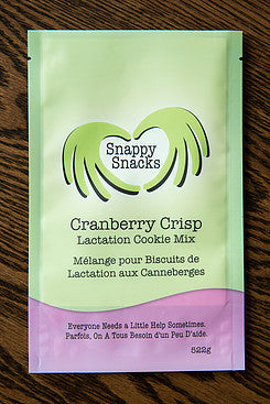 Snappy Snacks -Lacation Cookie Mix - Cranberry Crisp