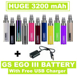 GS EGO III 3200mAh - Huge Capacity Battery With USB Charger