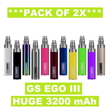 2x GS EGO III 3200mAh - **Dual Pack** Huge Capacity Battery