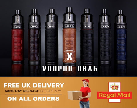 Voopoo Drag X 80W Mod Pod Vape ECig Starter Kit OR Pack of 5x Replacement Coils