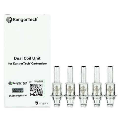 Genuine KangerTech Kanger Dual Coil Unit 1.5Ω Replacement Coil Pack of 5x