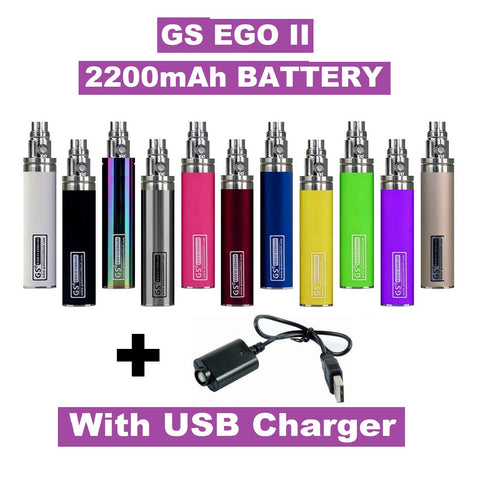 GS EGO II 2200mAh - Huge Capacity Battery With Long USB Charger