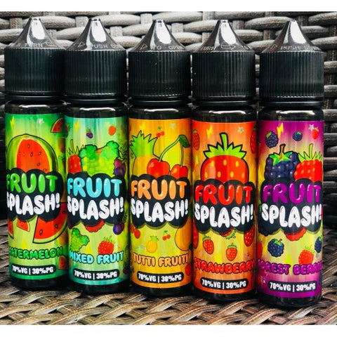 Fruit Splash e Juice 60ml e-Liquid 0mg Short Fill + Free Nic Shot - 70/30 VG/PG