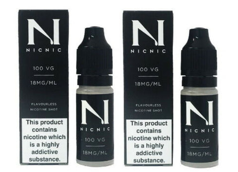 Nicotine Shots by NicNic - 18mg Nic Shot 100VG