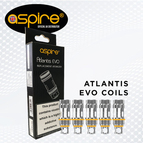 Aspire Atlantis Evo 0.4 ohm & 0.5 ohm Replacement Coils Atomizer Head
