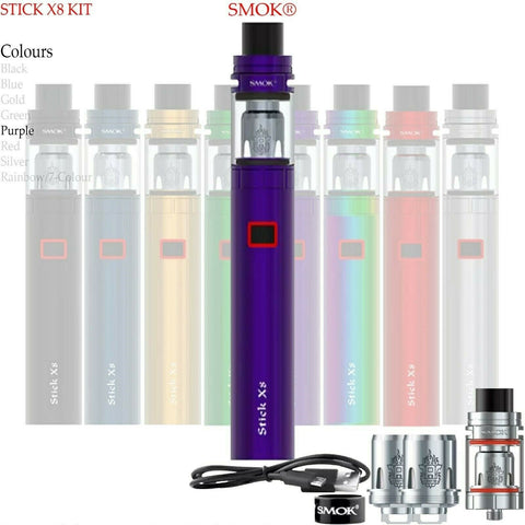 Smok Stick X8 Kit Pen Style 3000mah 2ML X-Baby Tank OR Pack of X-Baby M2 Coils