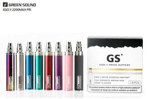 GS EGO II 2 Prime Battery With Micro USB Charger | Bottom Rechargeable 2200 mAh