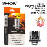 SMOK TFV8 X-Baby Coils - Pack of 3x Coils