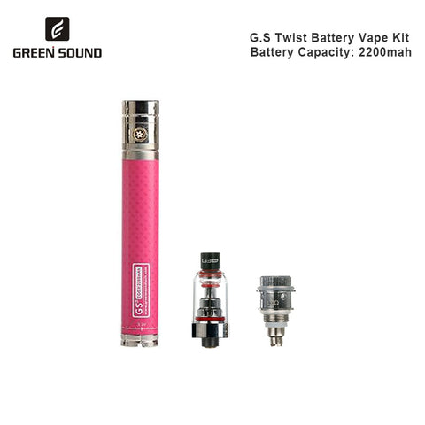 Green Sound Twist II Battery Vape Pen Mod Kit 2200mAh Battery E-Cigarette NEW