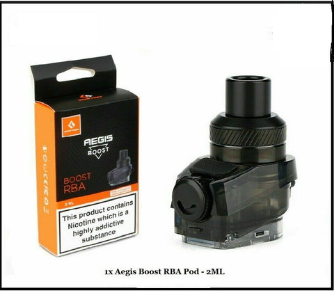 GeekVape Aegis Boost RBA Pod - 2ml Replacement Spare Pod Cartridge TPD Compliant