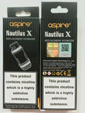 Aspire Nautilus X 1.5Ohm & 1.8Ohm Replacement Coils Head Pack of 5x