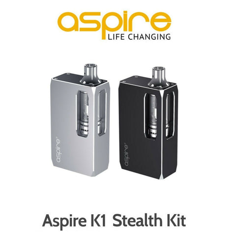Aspire K1 Stealth Vape E-Cigarette Starter Kit - 1000mAh Battery + Aspire K1 Plus Tank