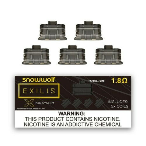 Snowwolf Exilis Pod System | 1.8Ω Coils | Pack of 5x | Replacement coils -NEW