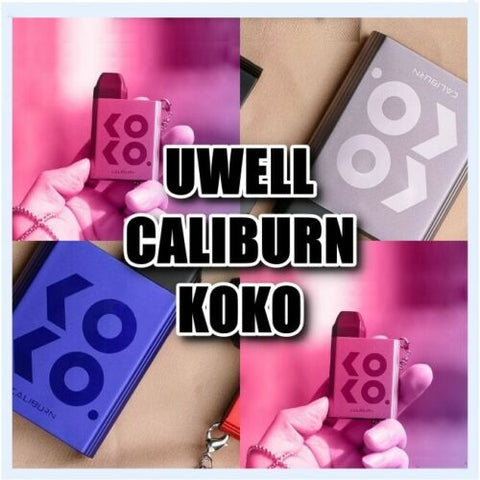 UWELL Caliburn KOKO Pod Kit ECigg Device Vape Kit 520mAh 11W 2ML TPD Compliant