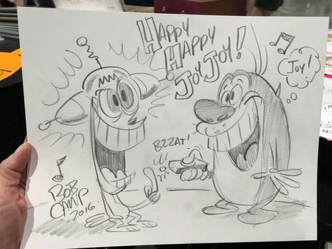 Pencil Sketch By Bob Camp, The Ren and Stimpy Show
