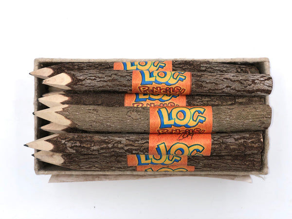 Log Pencils — signed by Bob Camp, Ren & Stimpy Show CoCreator