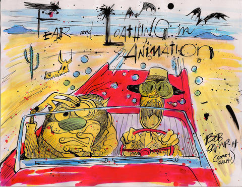 "Bob Camp Art ""Fear and Loathing in Animation Ren & Stimpy"" 11x14 Autographed Poster by Bob Camp"