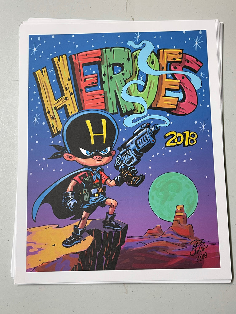 Bob Camp Art HeroesCon 2018 Full Color Poster 11x14 Limited Edition - Signed
