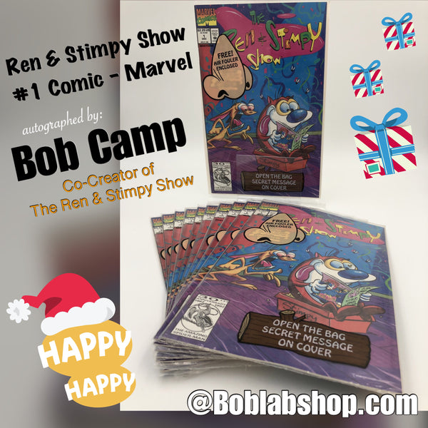 Signed by Bob Camp! #1 Ren and Stimpy Comic Number 1 First Issue
