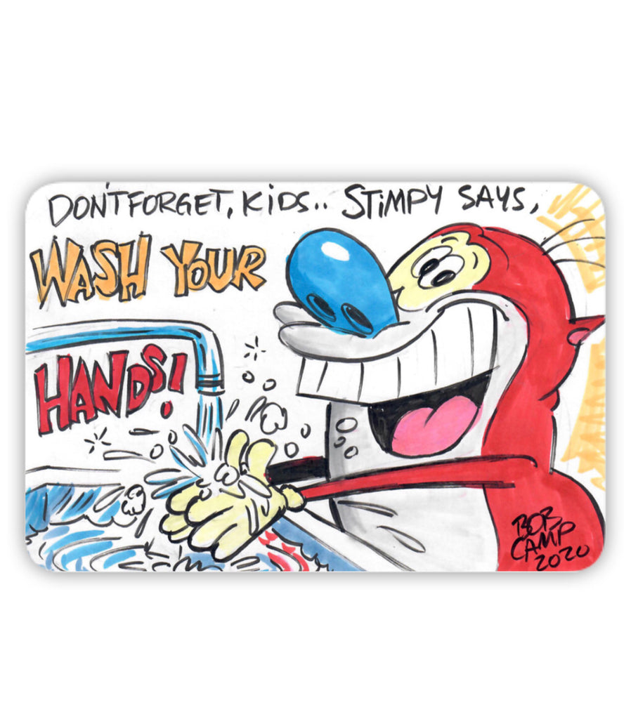 Bob Camp Art Fridge Magnet featuring Ren & Stimpy Show