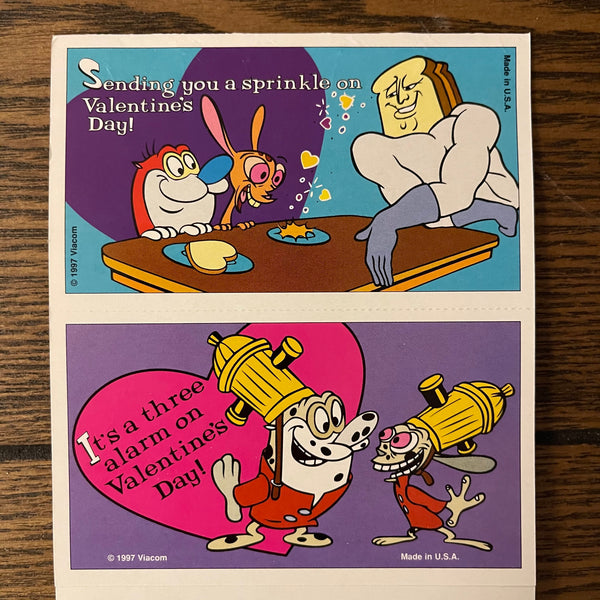 Valentine Card The Ren and Stimpy Show with remark by Bob Camp