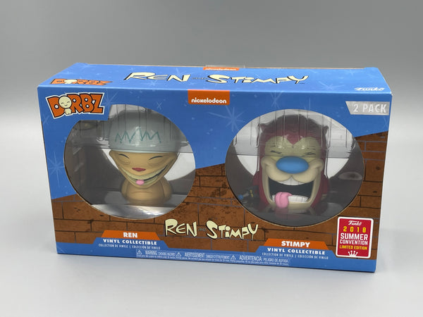 Ren & Stimpy Dorbz Funko 2018 SDCC Exclusive Signed by Bob Camp