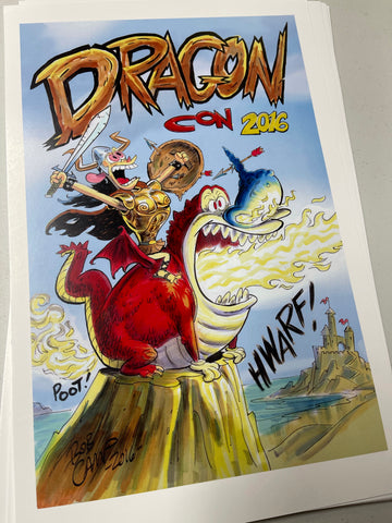 Bob Camp Art Ren & Stimpy DragonCon 2016 Full Color Poster 11x17 Limited Edition - Signed
