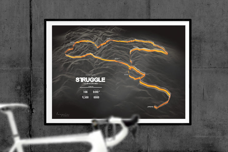 Struggle Loopie Route Artwork for Sportive in Yorkshire