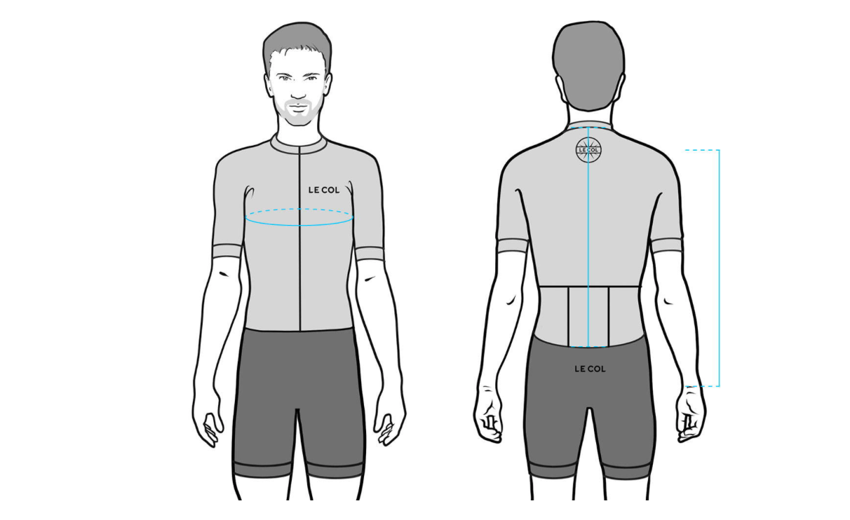 Men's Le Col Jersey Size Guide