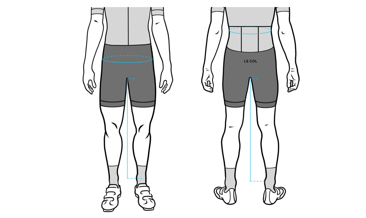 Men's Le Col Shorts size guide
