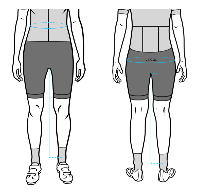 Women's le Col Shorts size guide