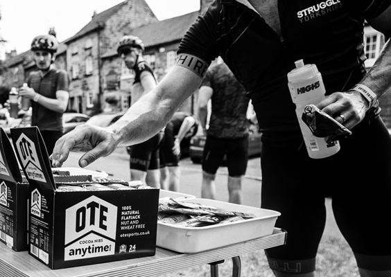 OTE Feed stations at Struggle Yorkshire sportive