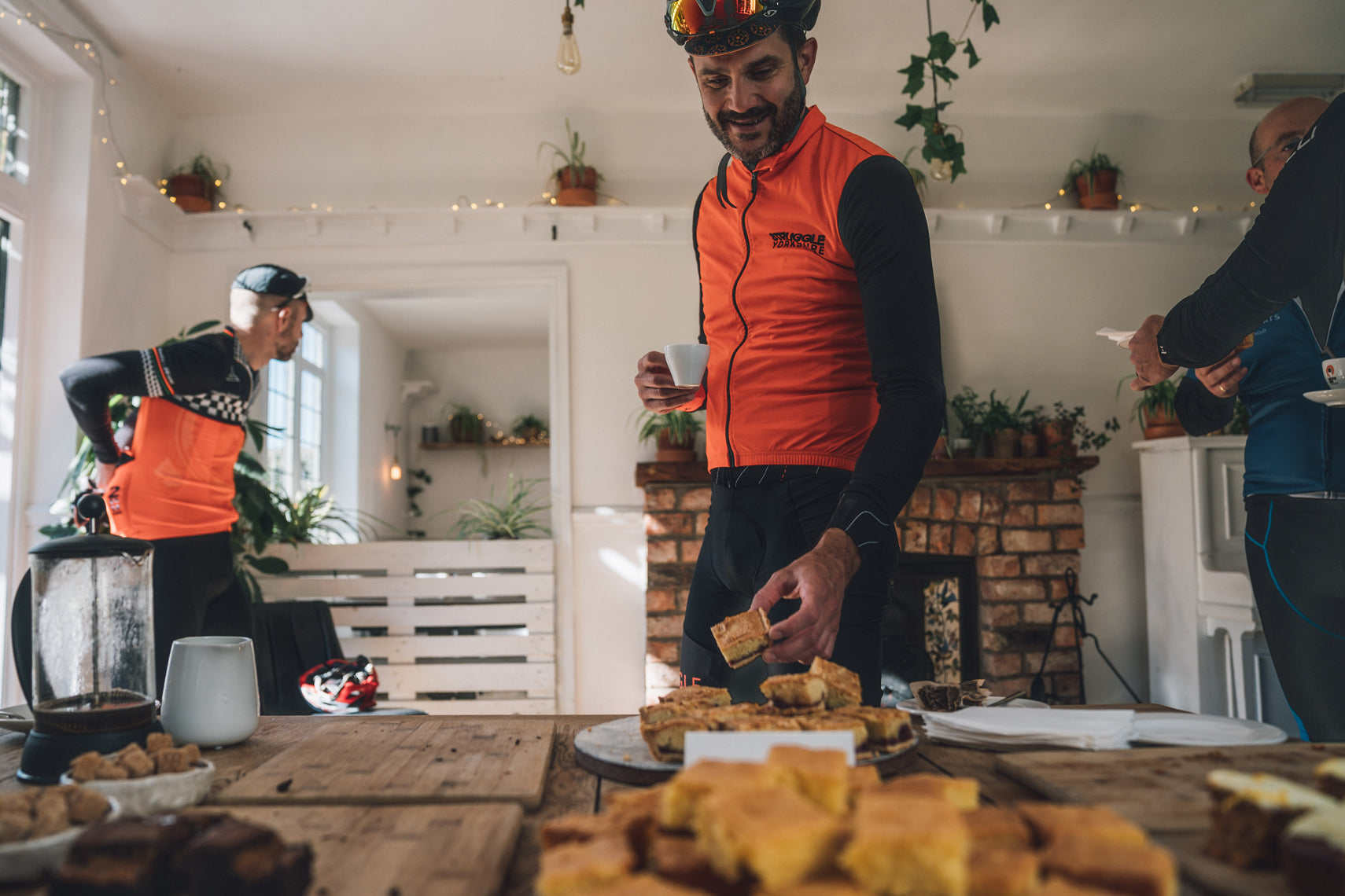 corporate cycling event in Yorkshire - Hideaway kitchen