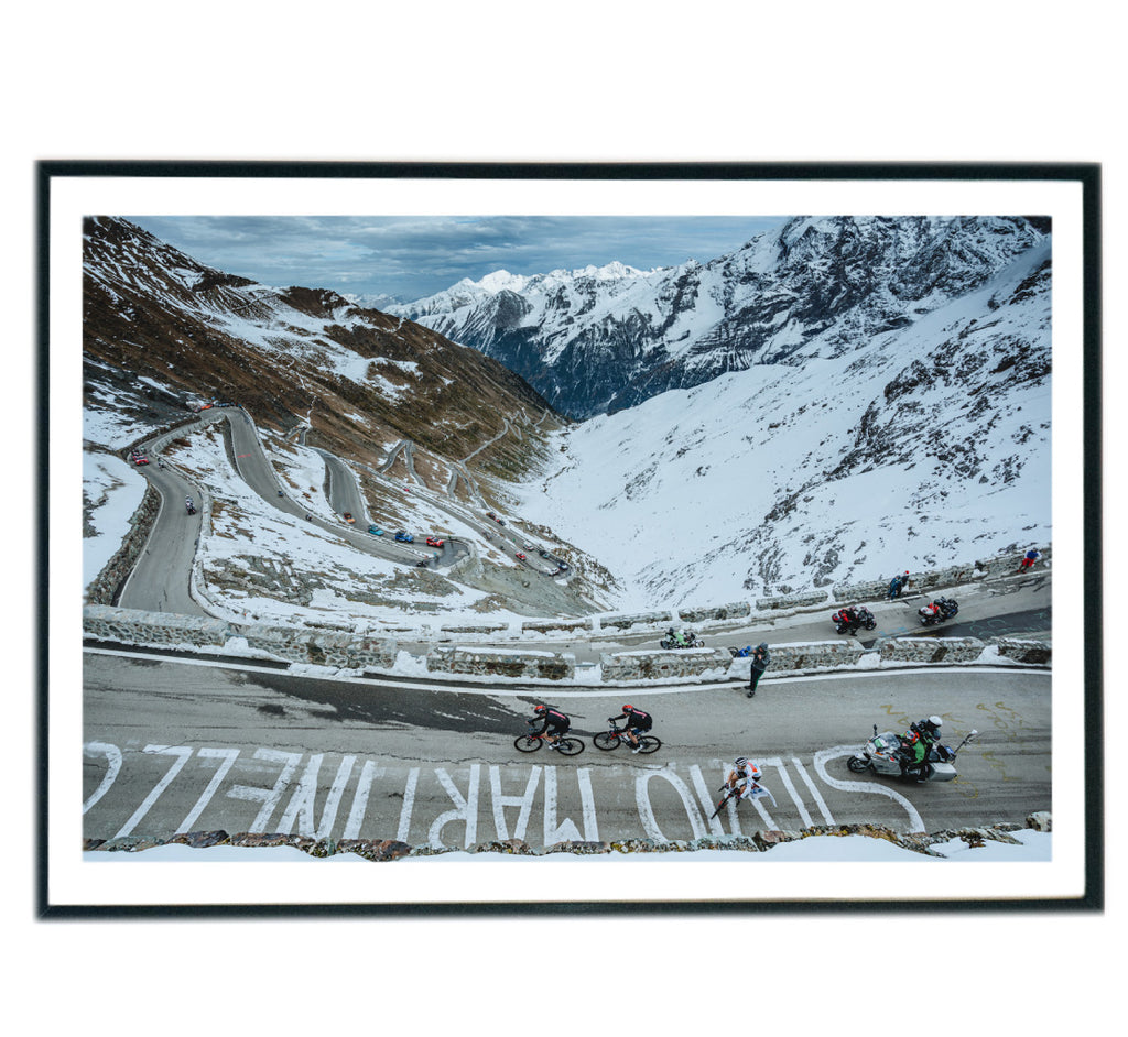 Limited Edition Stelvio, Giro d' Italia 2020 Cycling Print by Russ Ellis