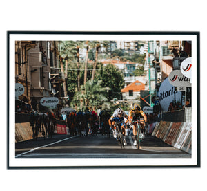 Limited Edition Milan San-Remo 2020 Cycling Print by Russ Ellis