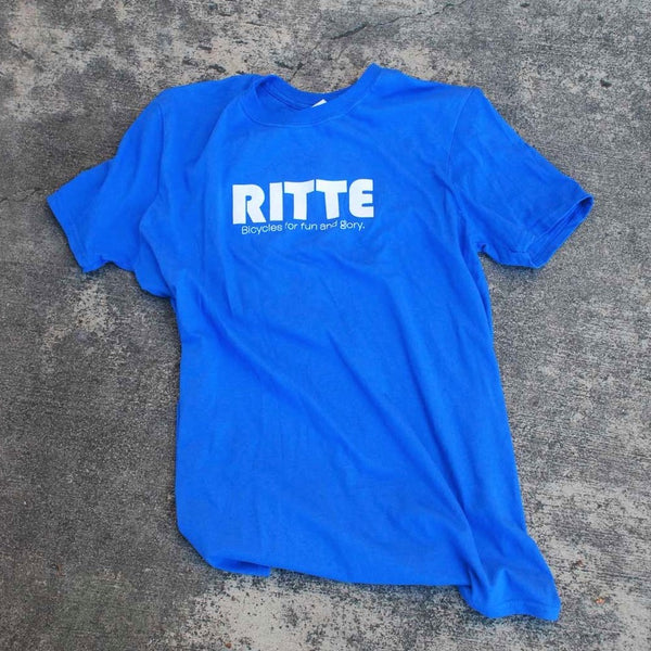 Ritte Logo Tee in Blue