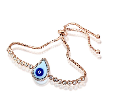 Tear Drop Evil eye bracelet