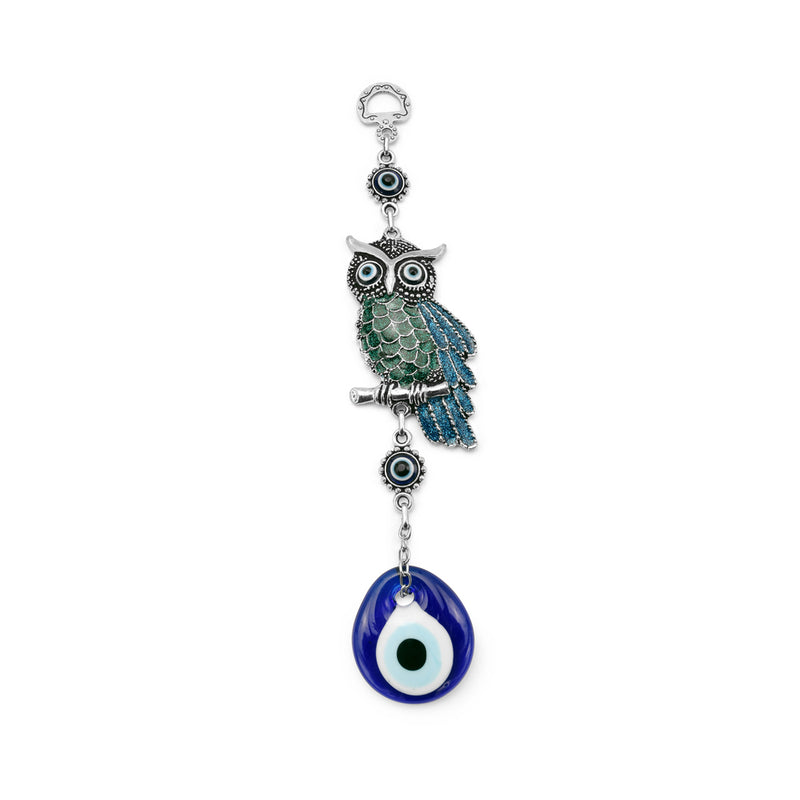 Evil eye Owl wall hanging