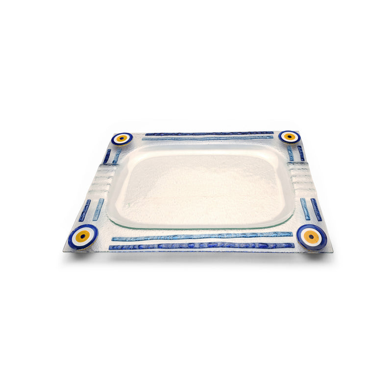 Evil eye glass trays