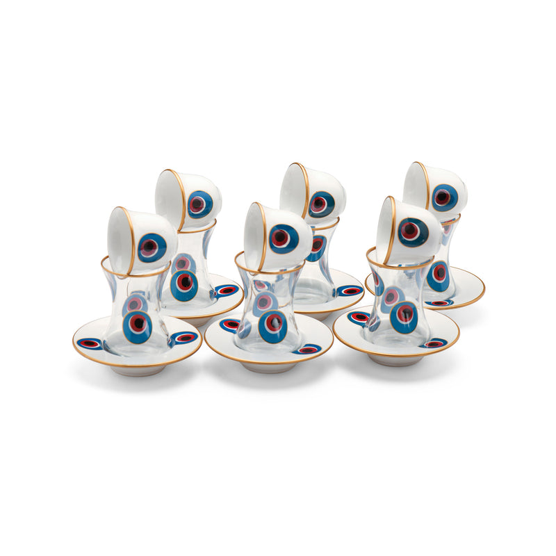 Evil Eye Glass Coffee & Tea sets
