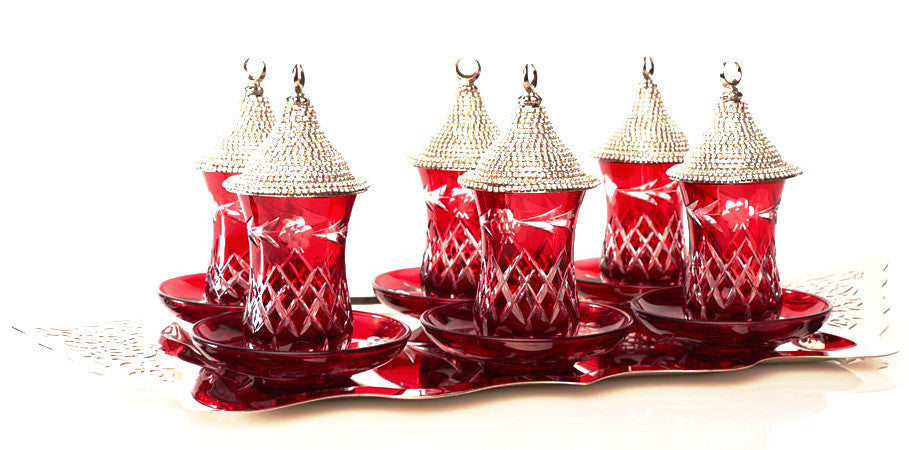 Crystal tea sets with cover - Roxelana Designer Jewelry & Fine Gifts
