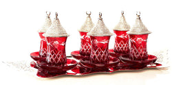 Crystal tea sets with cover