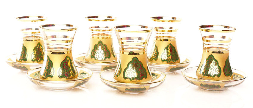 Tea set gold design - Roxelana Designer Jewelry & Fine Gifts