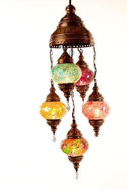 Five piece chandelier