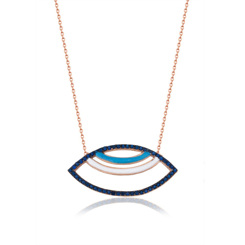 Evil eye Modern necklace - Roxelana Designer Jewelry & Fine Gifts