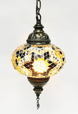 Turkish mosaic hanging lamp (7 inc wide 22 inc long)