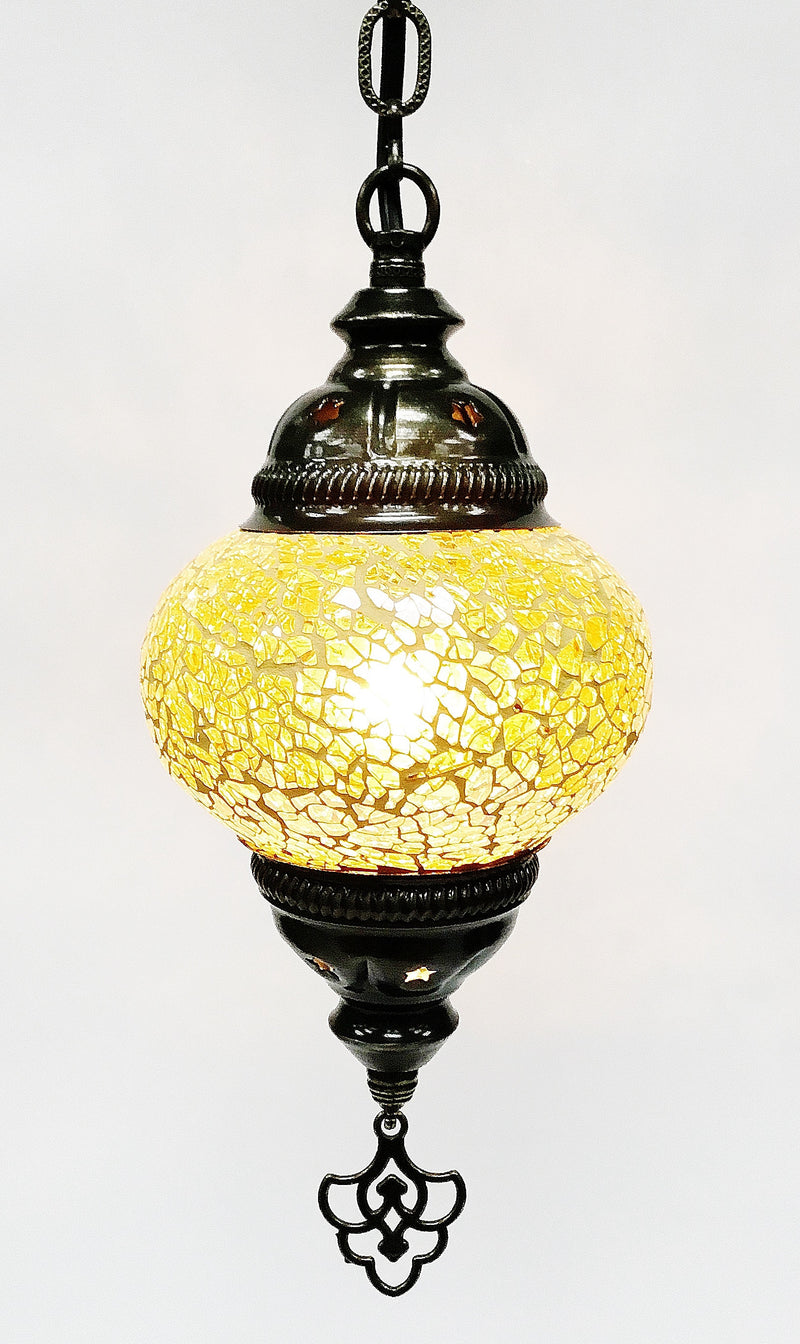 Cracked hanging lamp (6 inc wide 21 inc long) - Roxelana Designer Jewelry & Fine Gifts