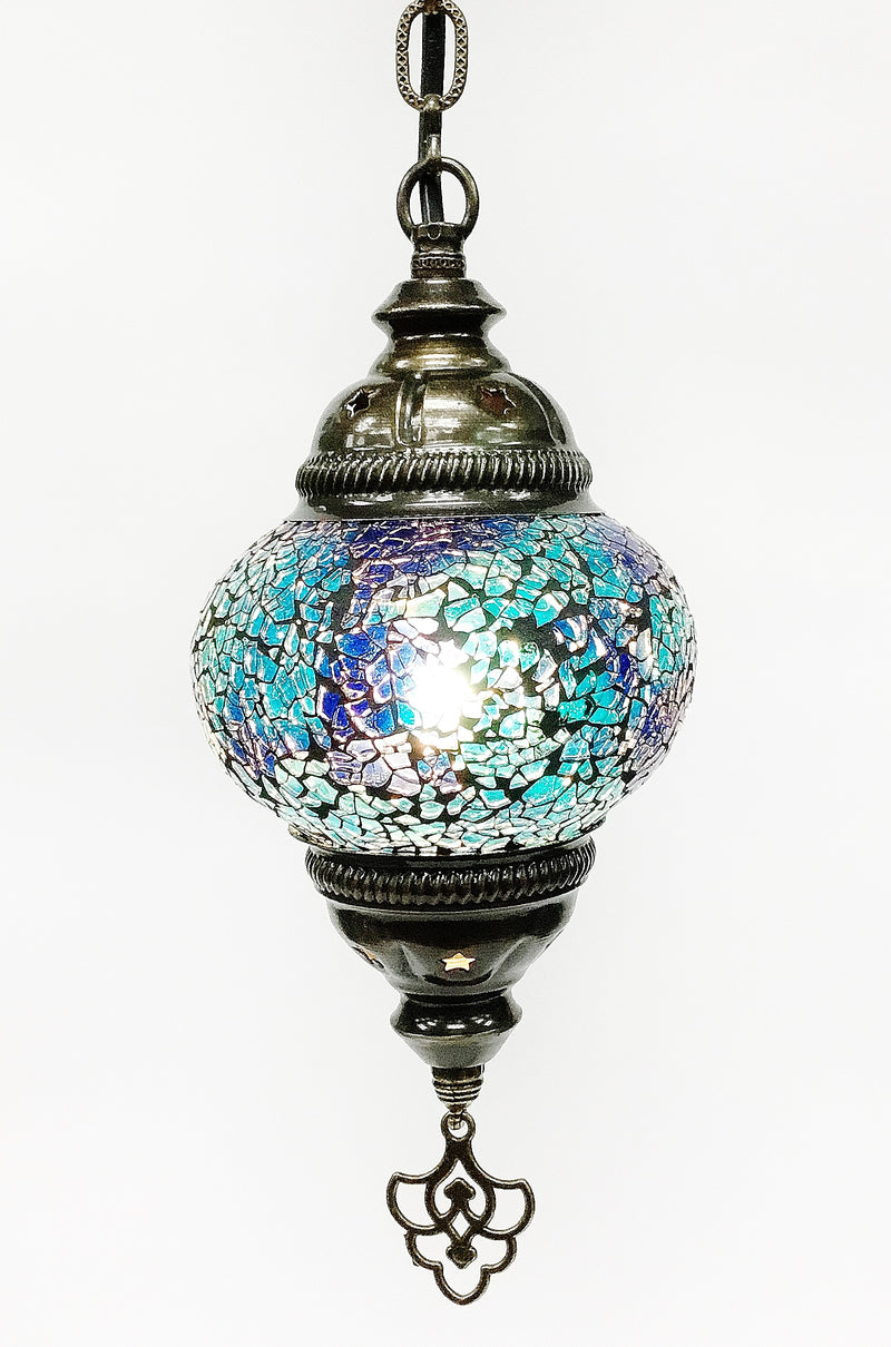 Crackly glass hanging lamp B2
