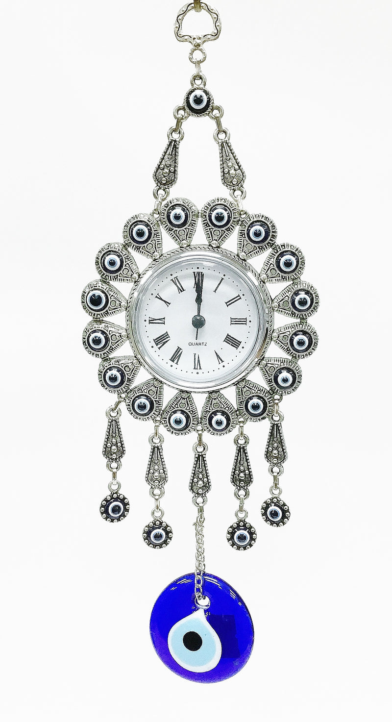 Evil eye clock wall decor - Roxelana Designer Jewelry & Fine Gifts